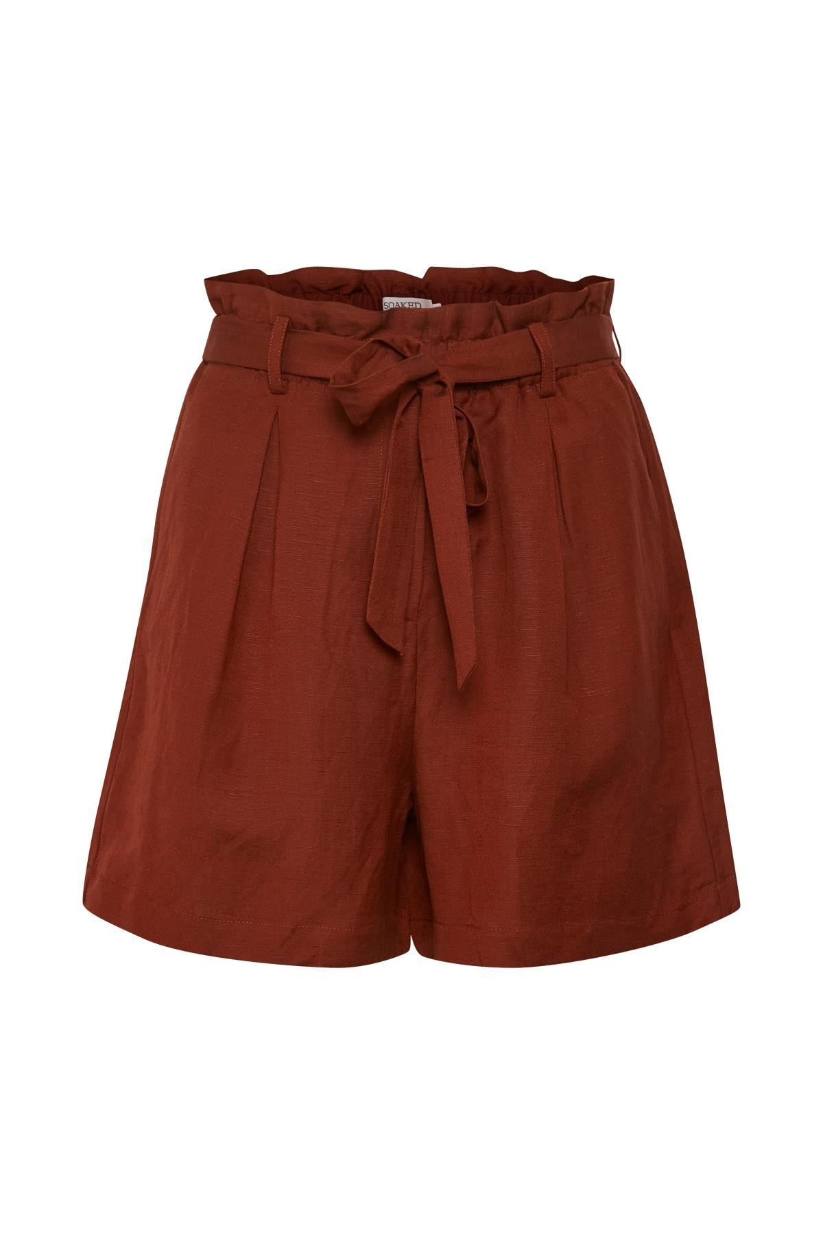 Image of   SOAKED IN LUXURY SL FAYETTE SHORTS 30404040 (Fired Brick 47021, XS)