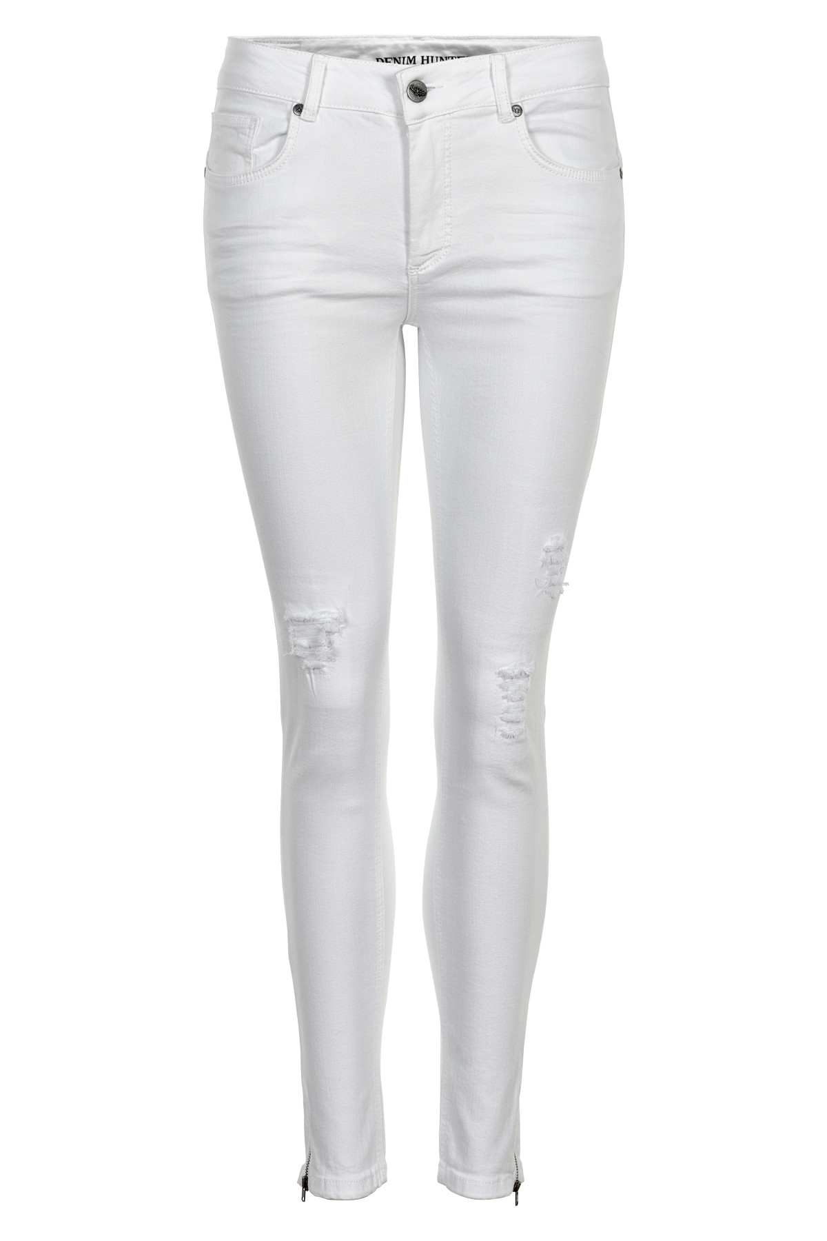 Image of   Denim Hunter CELINA ZIP TORN JEANS 10701894 O (Optical White 30001, 25)