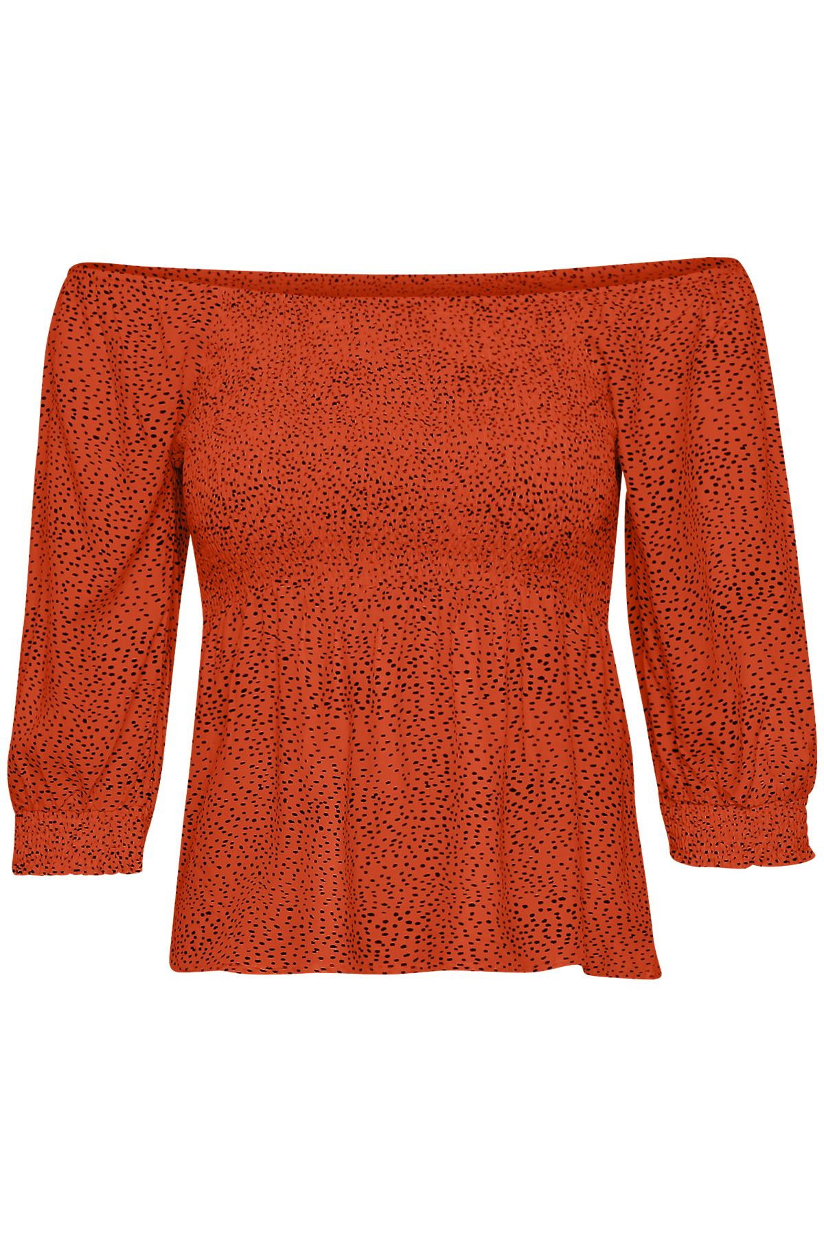 Image of   GESTUZ CATHRINGZ SMOCK BLUSE P (Pureed Pumpkin 90621, 38)
