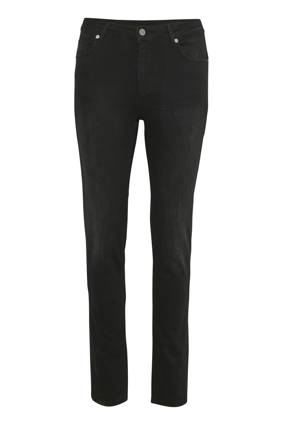 "Image of   Denim Hunter DHCELINA HIGH STRAIGHT JEANS 10702639 B (Black Washed 36012, ""32"", 28)"