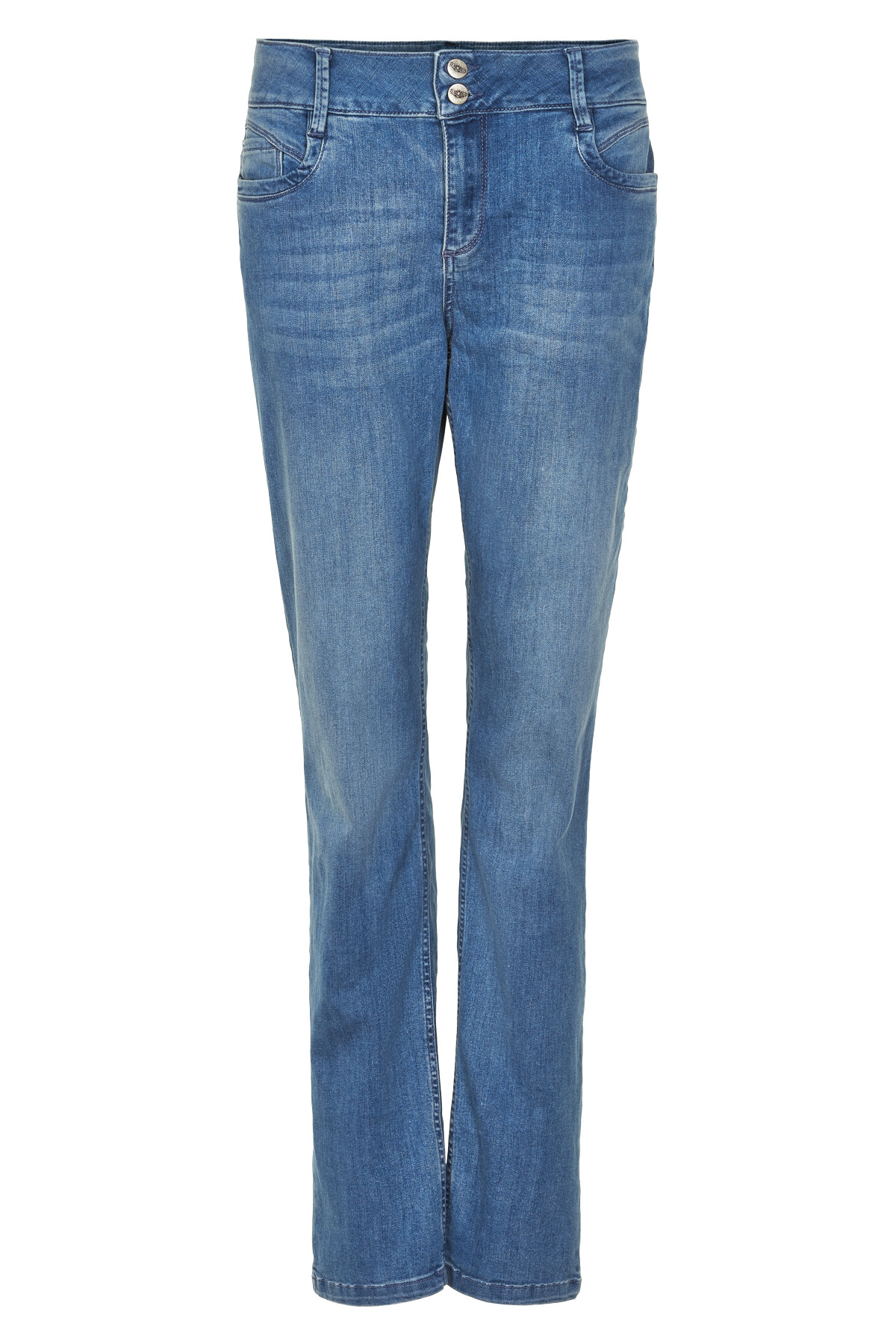 "Image of   Denim Hunter REGITZE CURVED JEANS 10701678 BW (Blue Wash 38510, ""32"", 25)"