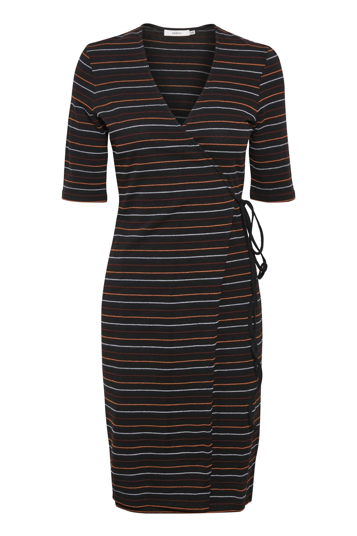 Image of   GESTUZ TERRIGZ SLÅ-OM KJOLE 10903453 (Black W. Stripes 90616, XS)