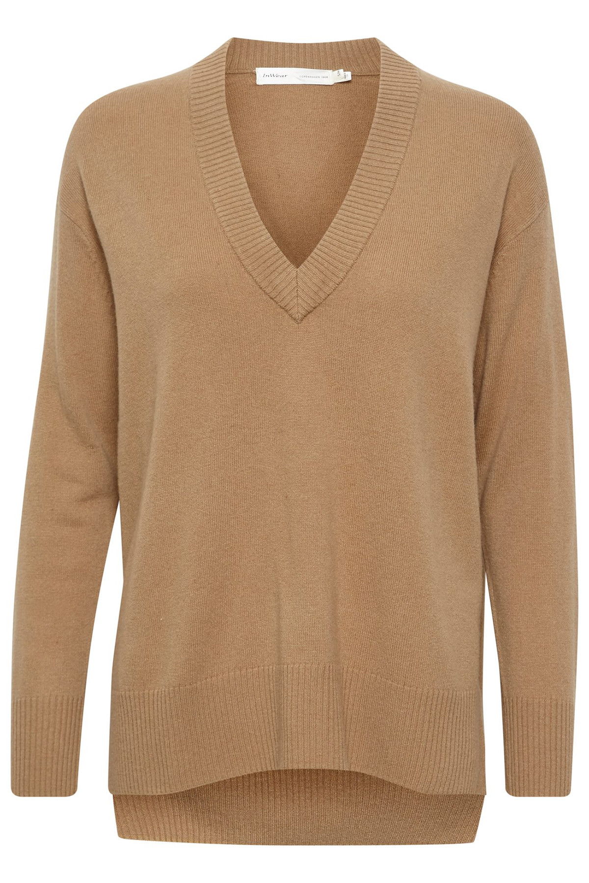 Image of   InWear IRISIW V-NECK PULLOVER 30104654 (Warm Camel 10117, S/M)