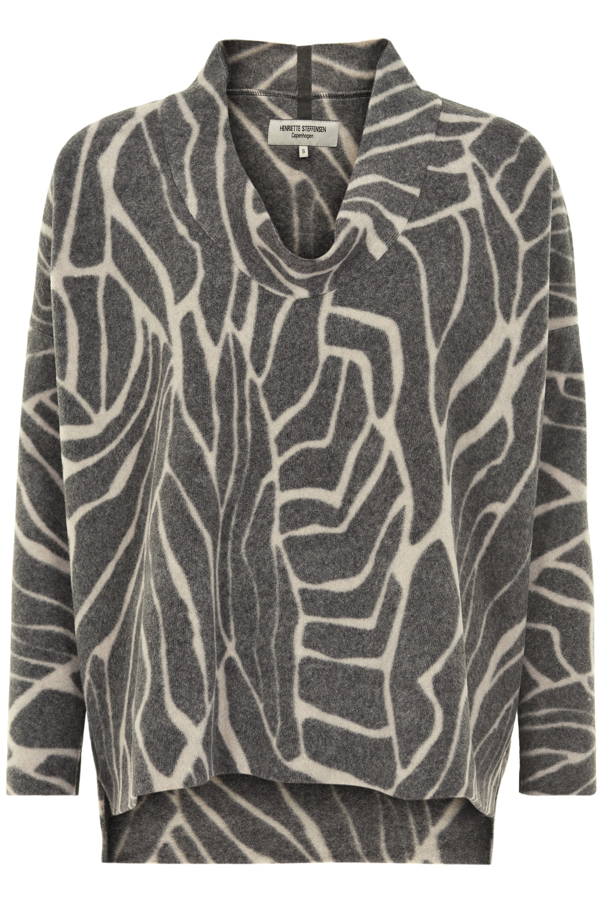 Image of   HENRIETTE STEFFENSEN Copenhagen 1306 SWEATER LEAVES (Leaves, S)