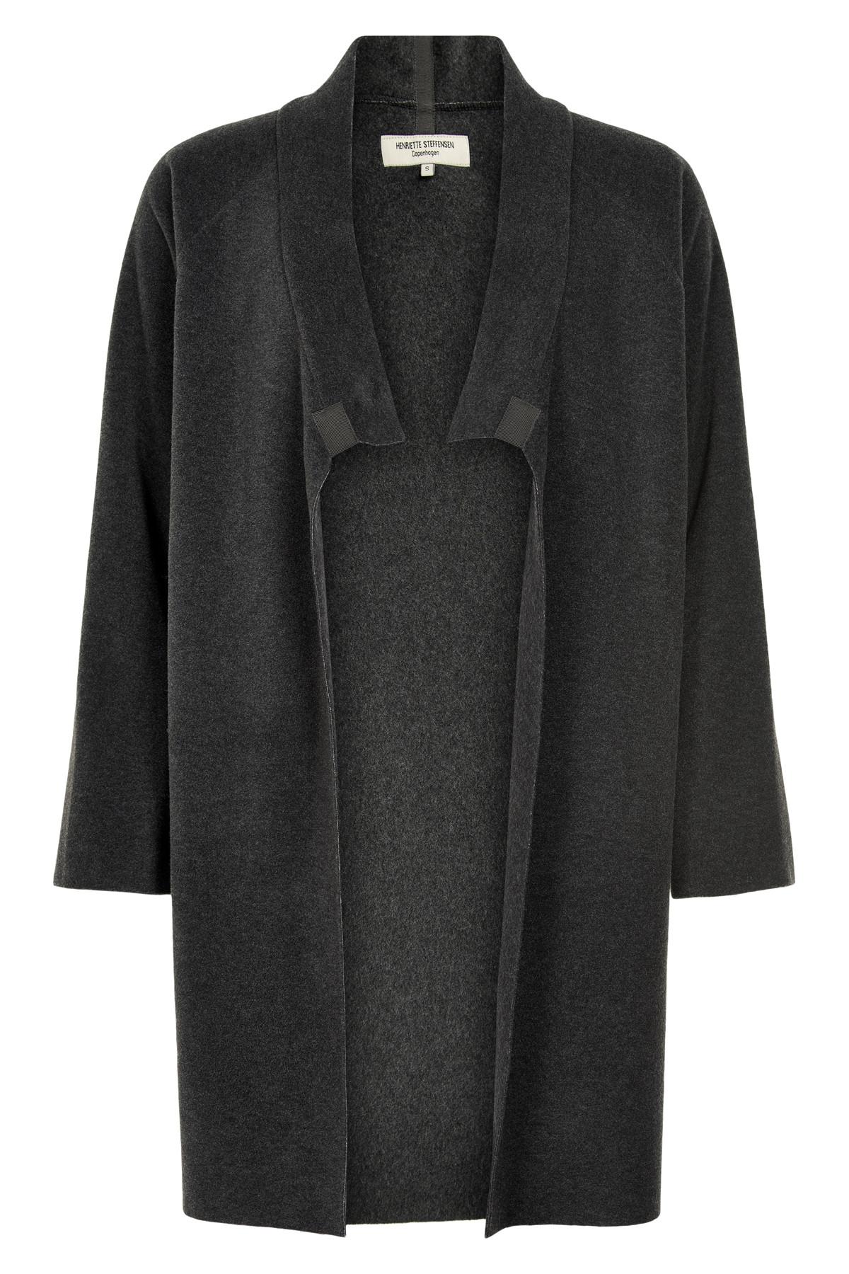Image of   HENRIETTE STEFFENSEN Copenhagen 7117 CARDIGAN SOFT BLACK (Soft Black, S)