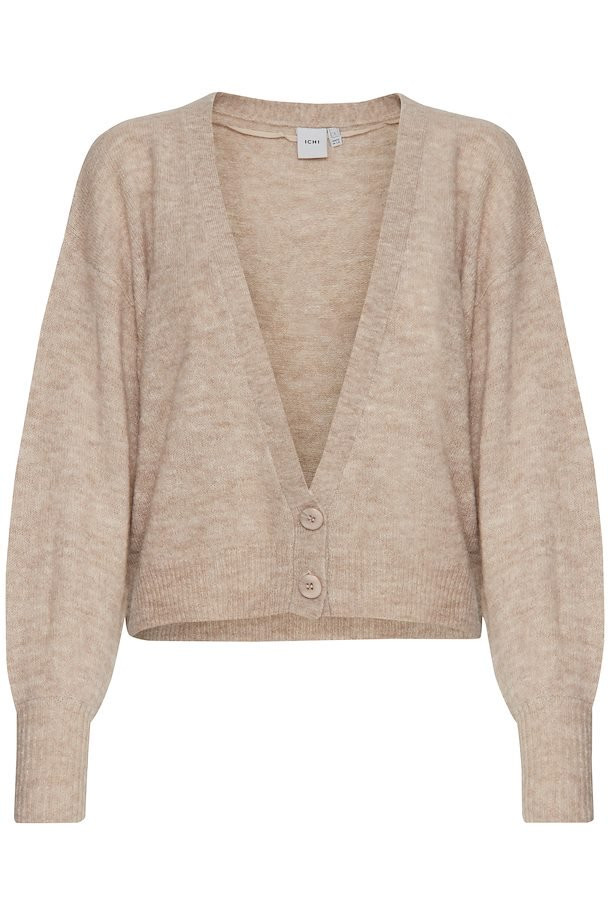 Image of   ICHI IHAMARA CA 5 CARDIGAN 20110285 (Feather Gray 10080, XS)