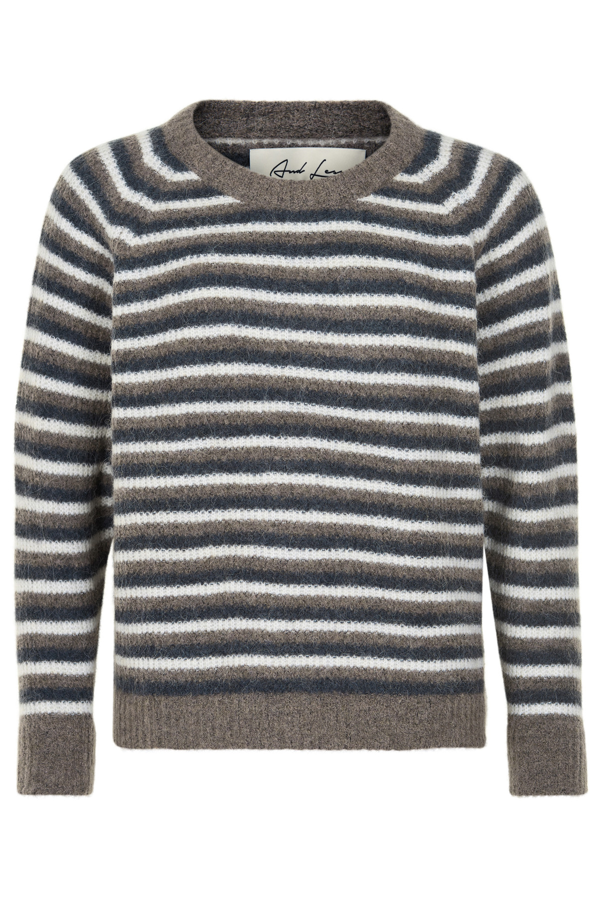 Image of   AND LESS ALBAMBINA SWEATER 5519211 (Multi Stripe, XS)