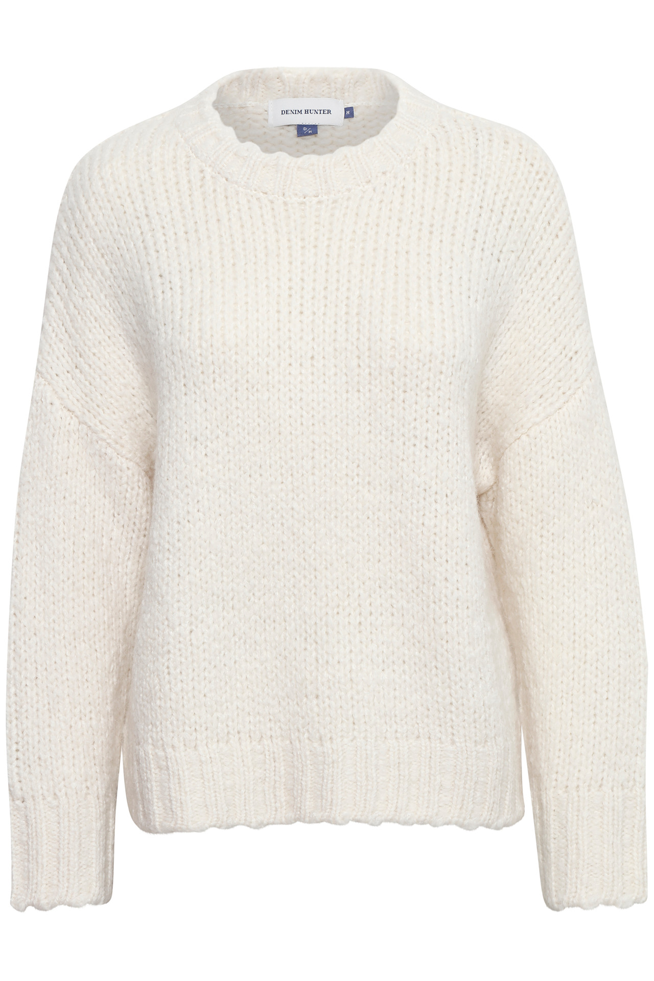 Image of   Denim Hunter DHWILLOW KNIT PULLOVER W 10702466 (Whisper White 36024, XL)