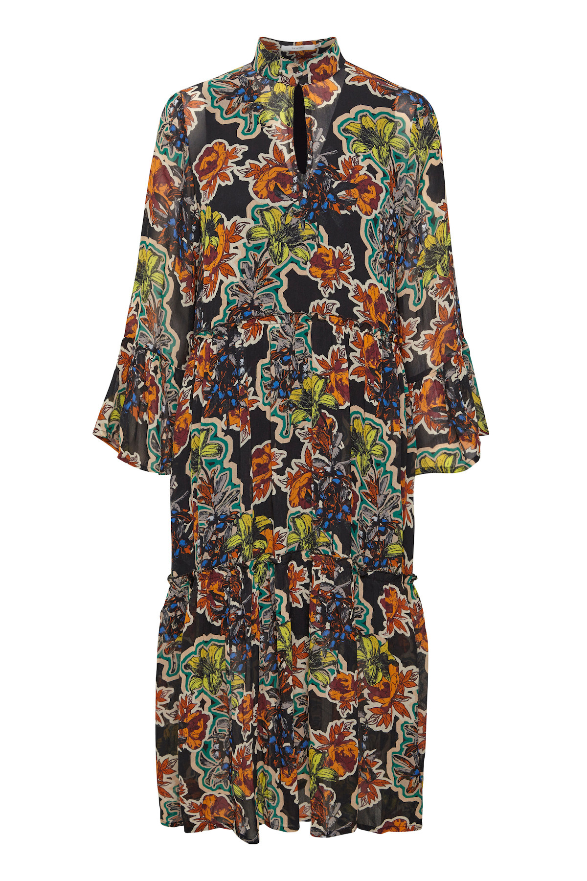 Image of   GESTUZ FLORITAGZ DRESS 10903694 (Black Grafiti Flower 90639, 34)