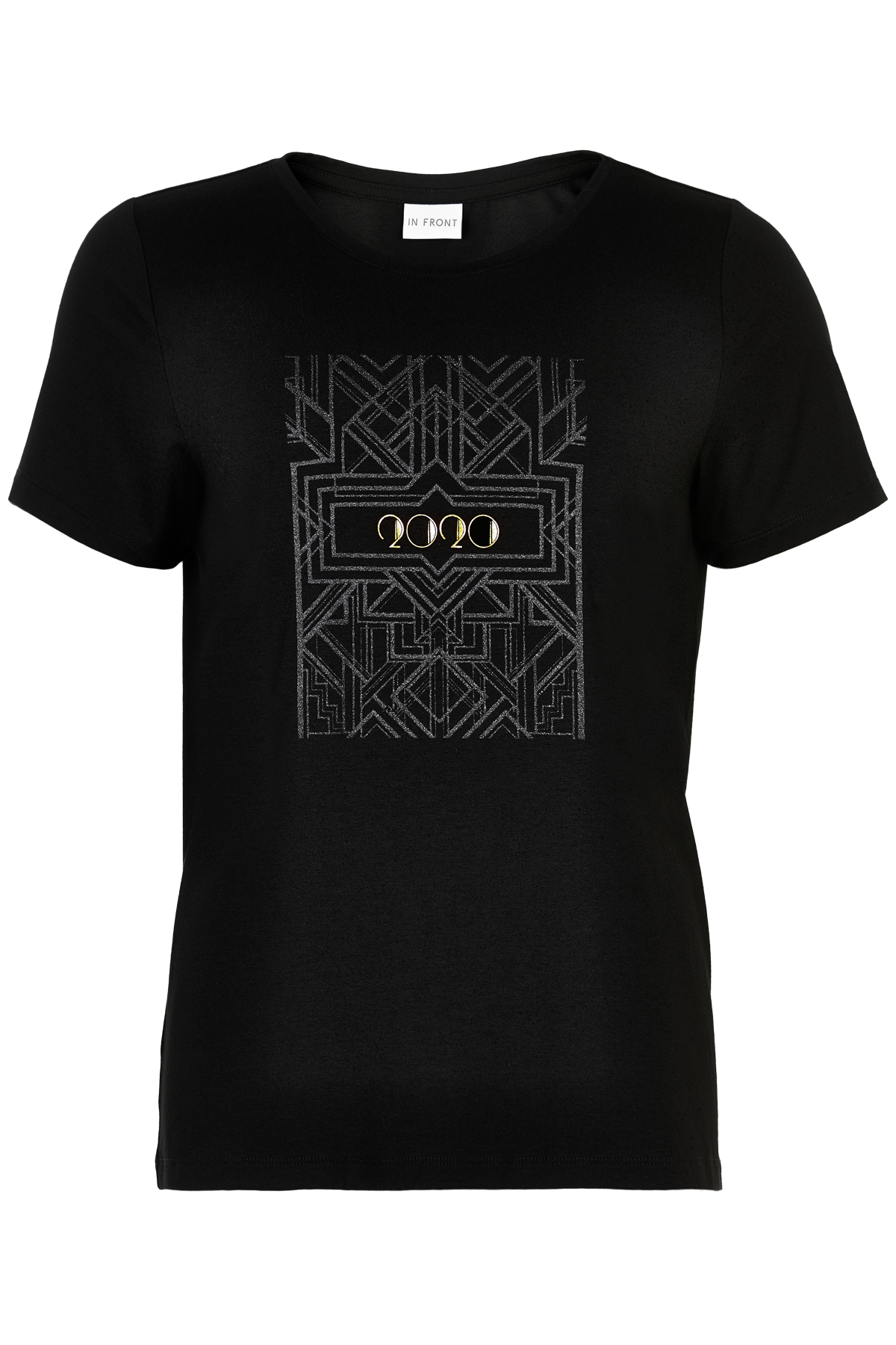 Image of   IN FRONT CHRISTI T-SHIRT 13592 (Black 999, L)