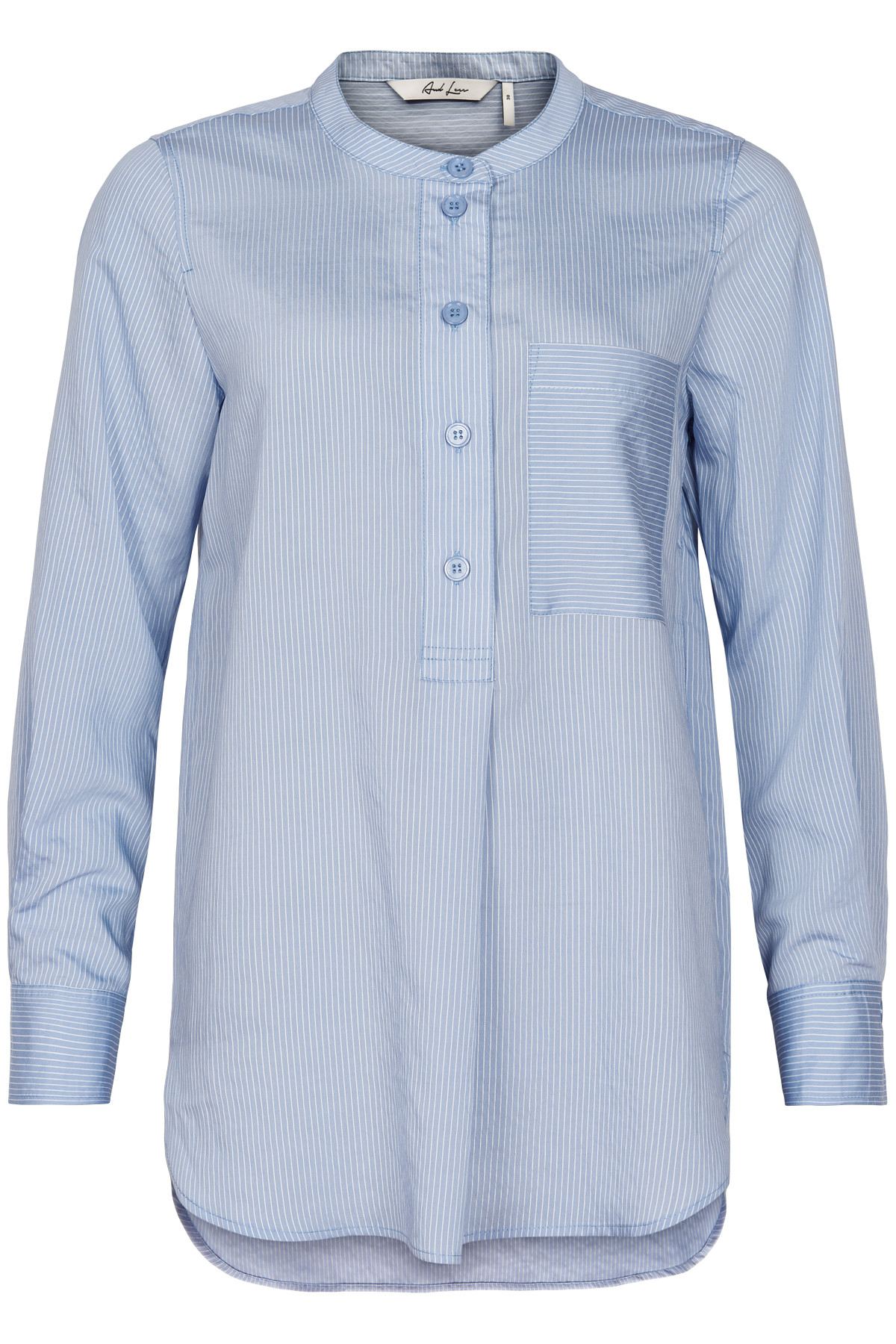 Image of AND LESS ALACE BLUSE 5120002 (Colony Blue, 36)