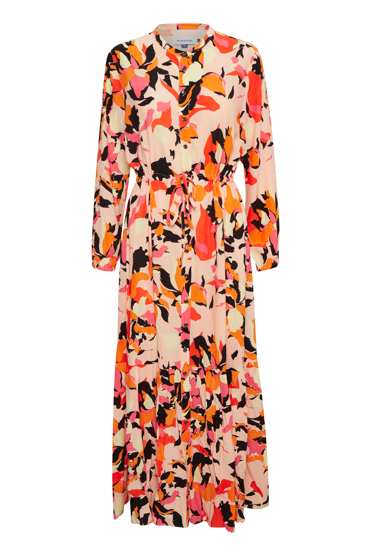 Image of   Denim Hunter DHPARIS FLOWER MAXI KJOLE 10702739 36595 (Peach Parfait 36595, 34)