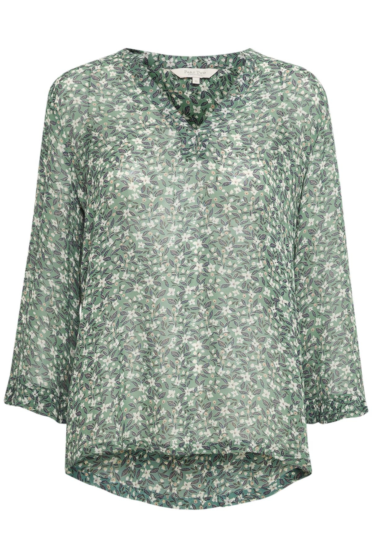 Image of   PART TWO BITTA BLUSE 30304965 34215 (Mini Flower 34215, 34)