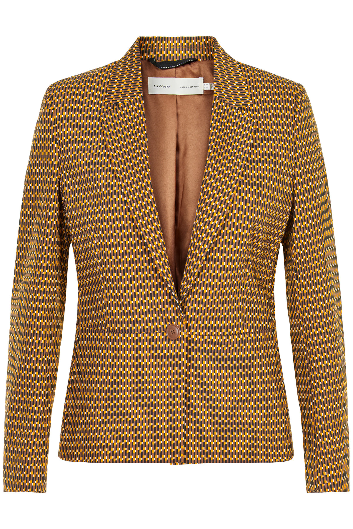 Image of   INWEAR ZELLA BLAZER 30104280 11713 (Brown Graphic Stic 11713, 36)