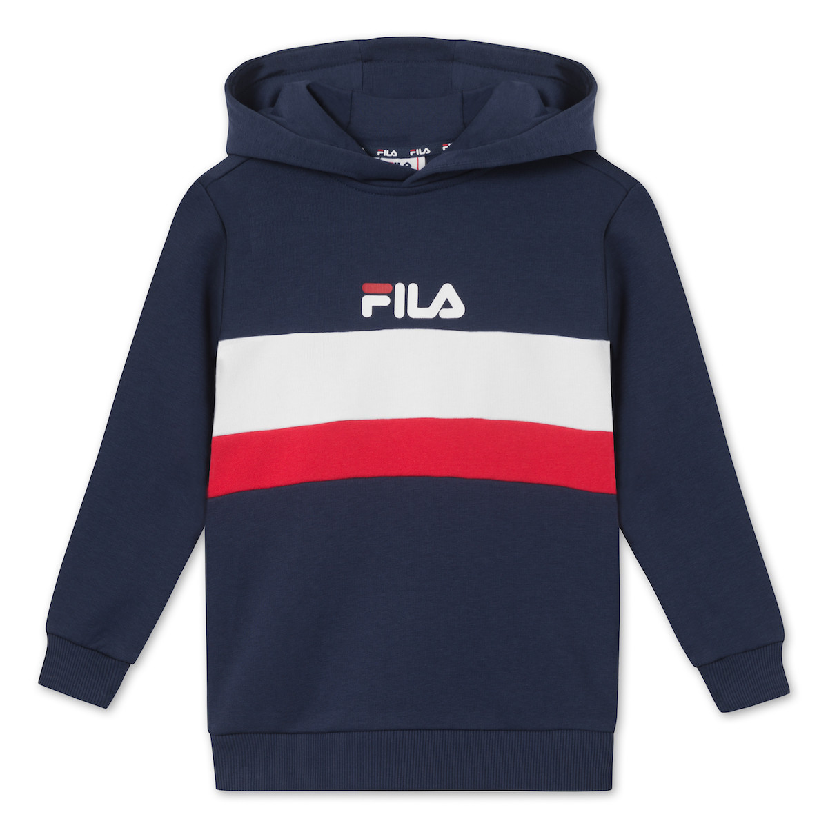 Billede af FILA ELLANAH HOODY SWEAT 687263 (Iris True/Red bright White, 170/176)