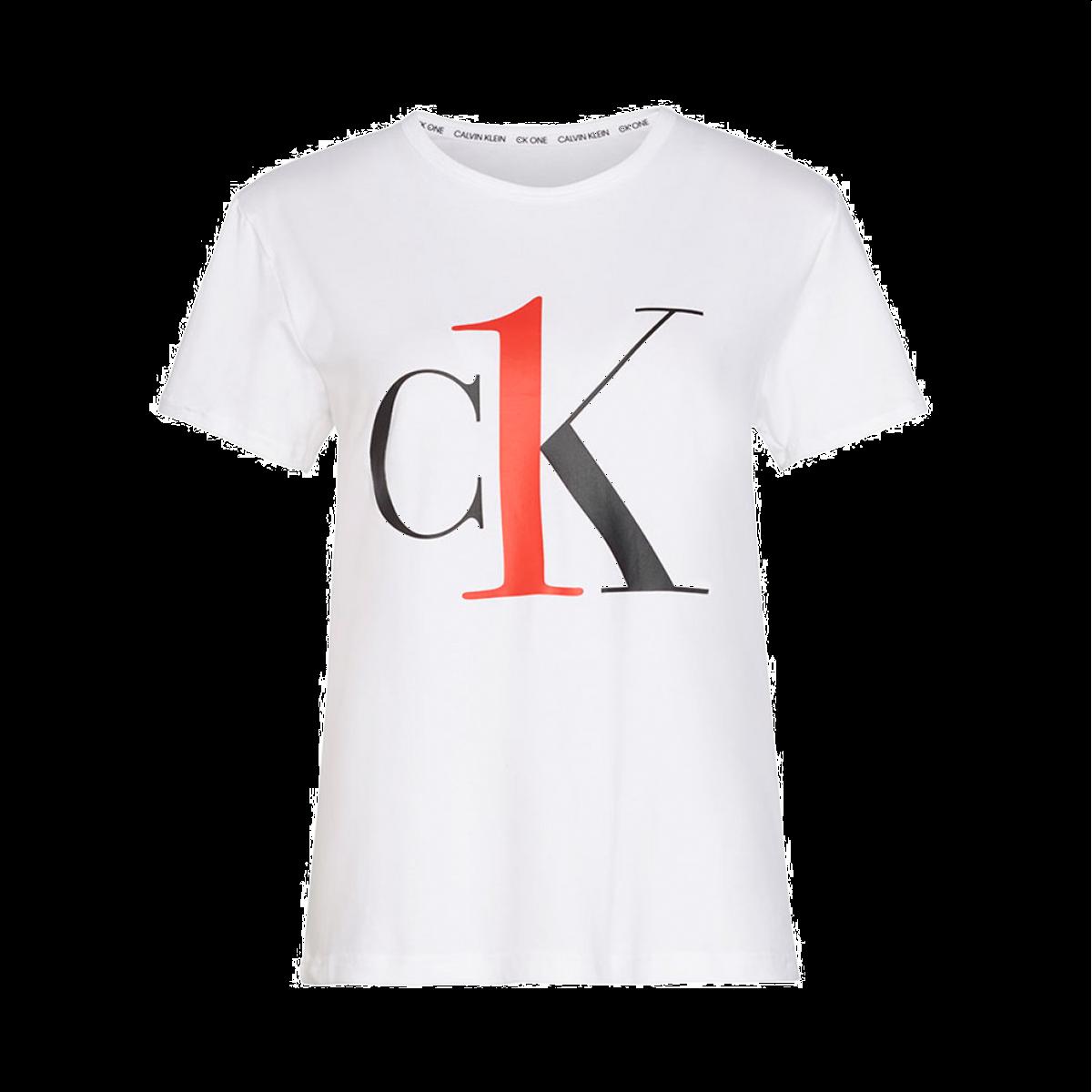 Image of   CALVIN KLEIN CREW NECK TEE S6436E 100 (White, L)