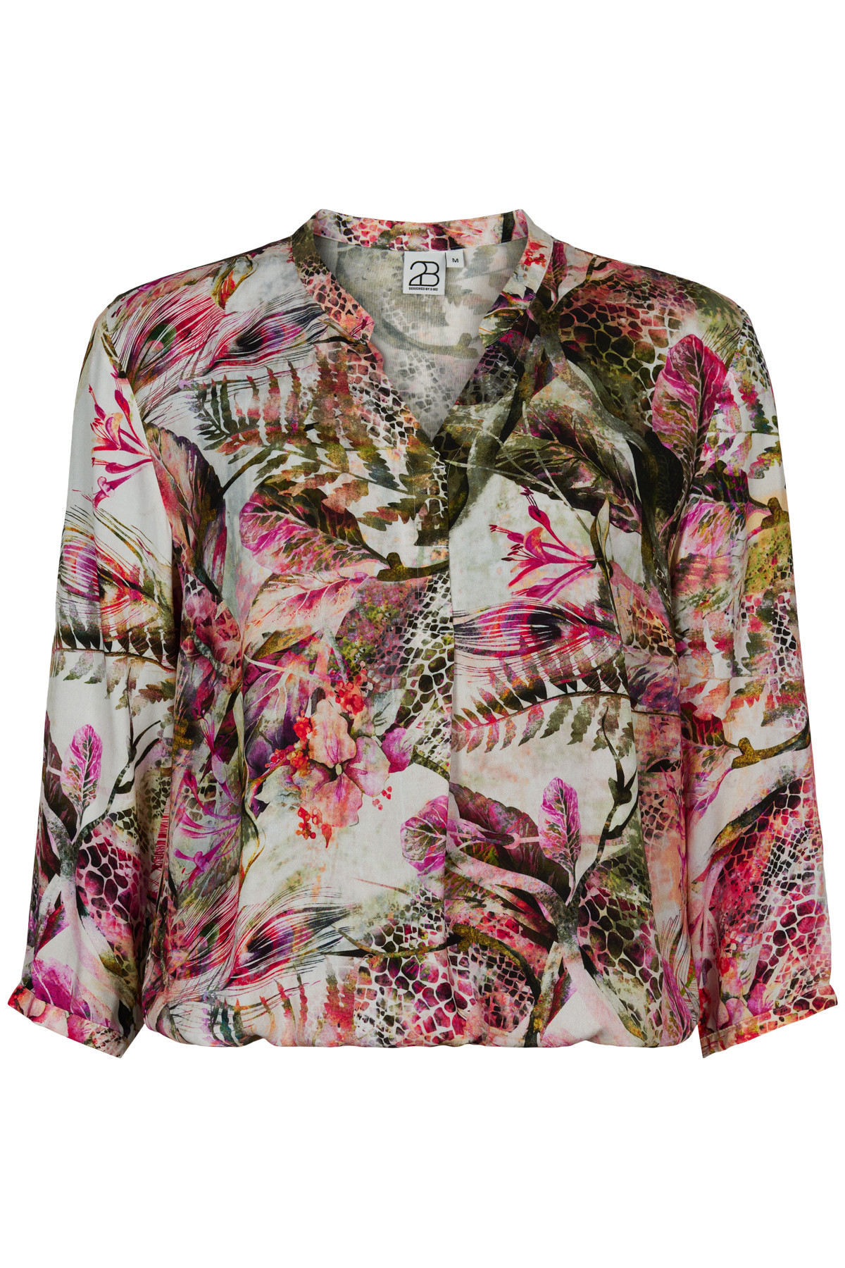 Image of 2BIZ HELLEN BLUSE 43915 (Multi, XL)
