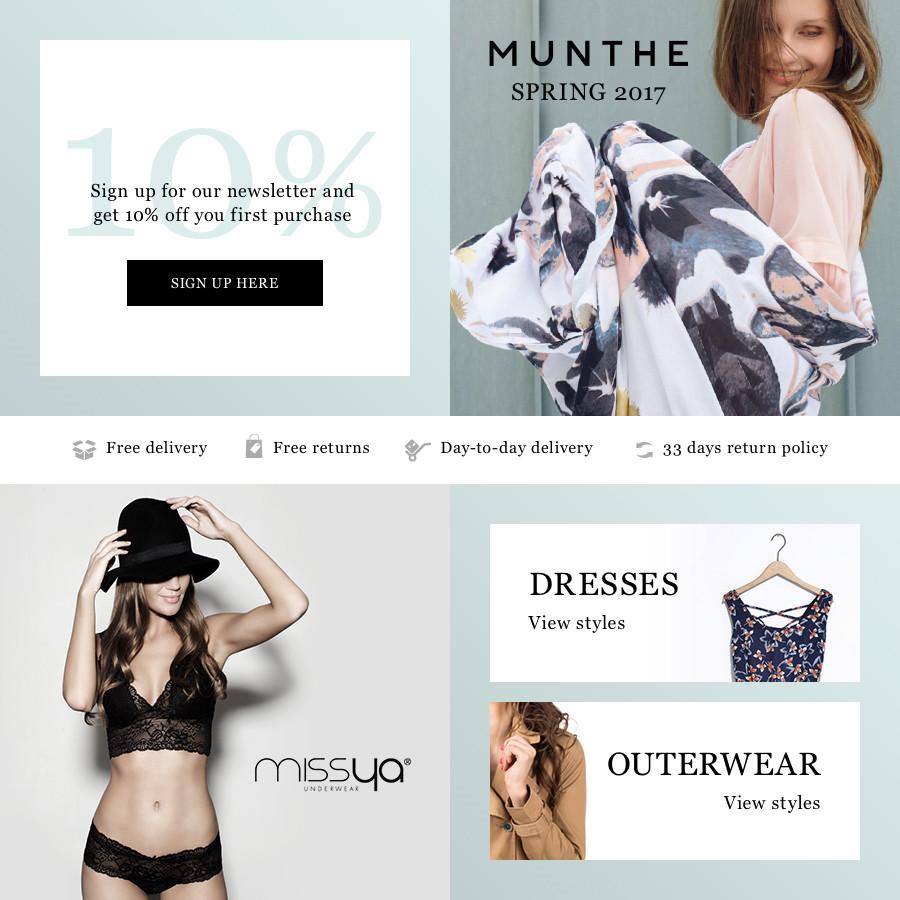 It is an image of Massif Fashion Nova Return Shipping Label