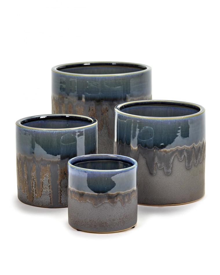 Misty Blue Glaze pot fra Serax