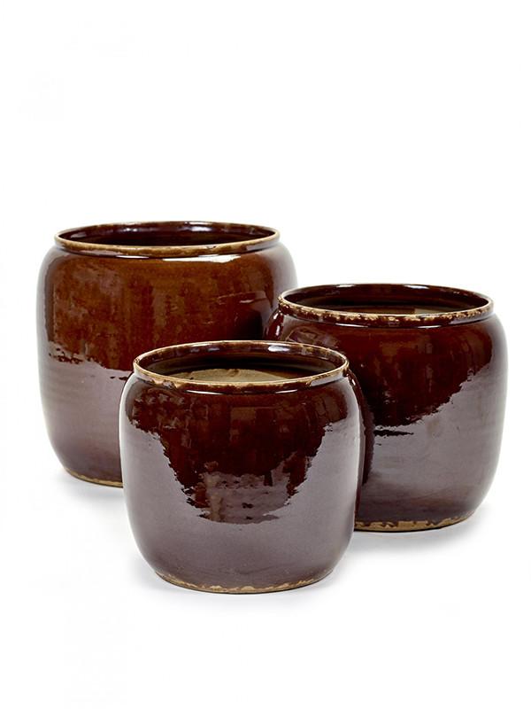 Brownie, brown krukke fra Serax