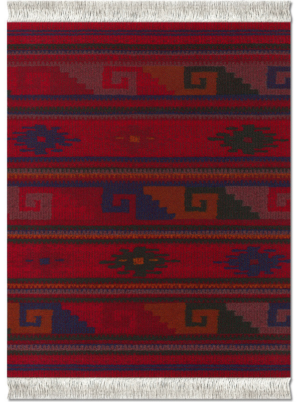 Deep Red Zapotec musemåtte fra MouseRug