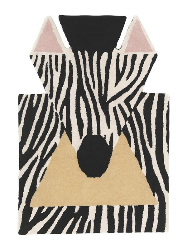 Zebra gulvtæppe fra EO