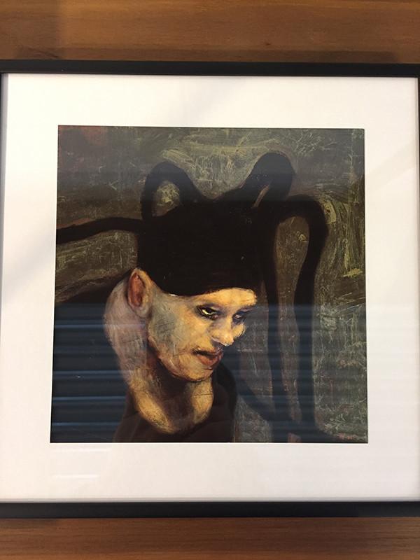 Fool nr. 8, indrammet postkort af Michael Kvium