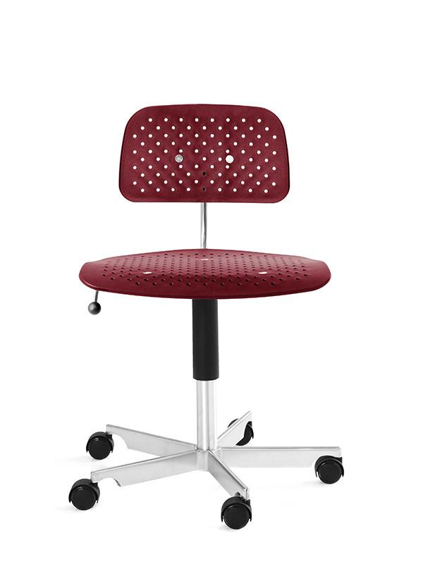 Kevi Air kontorstol, rød fra Engelbrechts