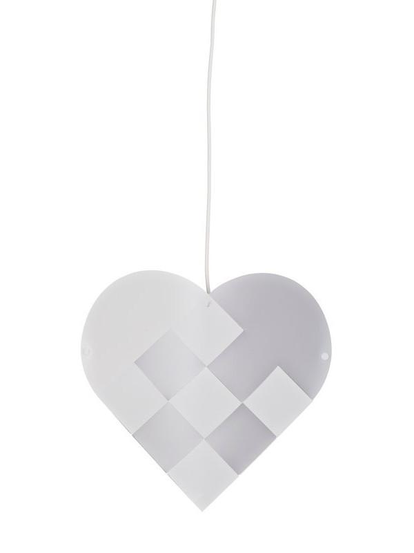 Julelampe, hjerte i sølv fra Le Klint