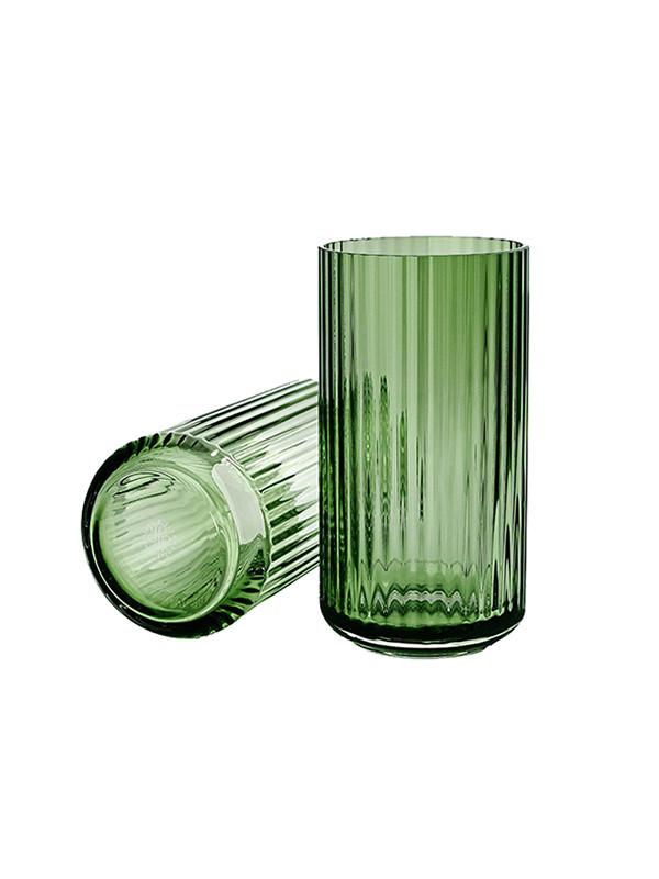 Lyngbyvasen i grøn glas fra Lyngby Porcelæn