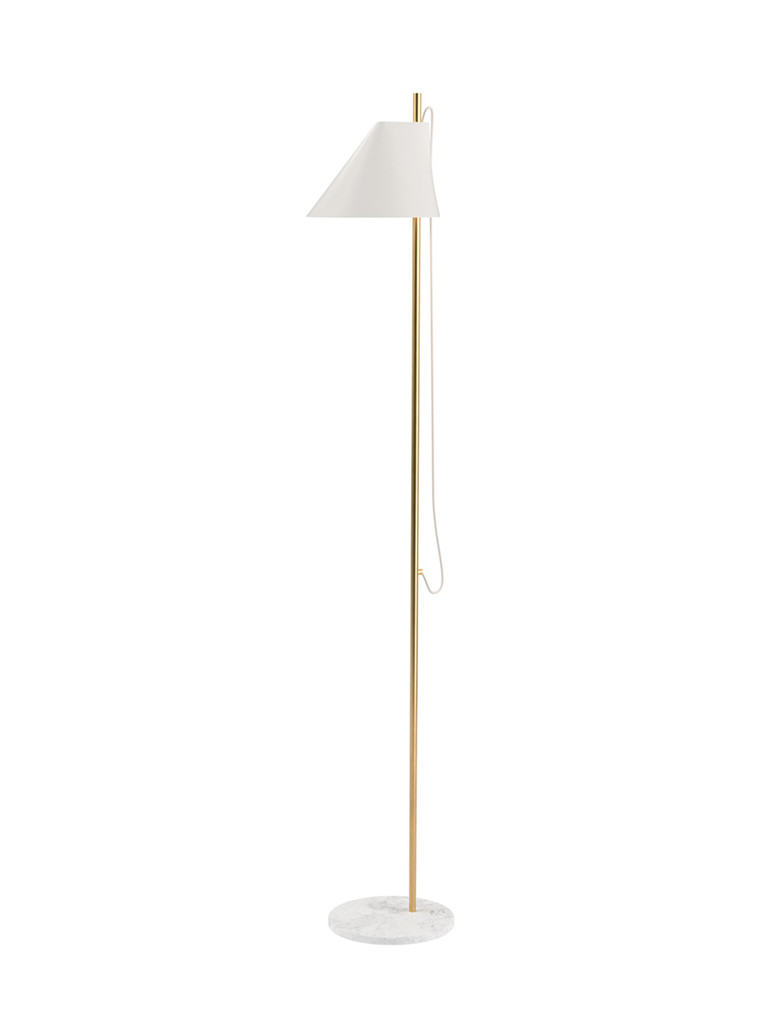 Yuh Brass gulvlampe fra Louis Poulsen