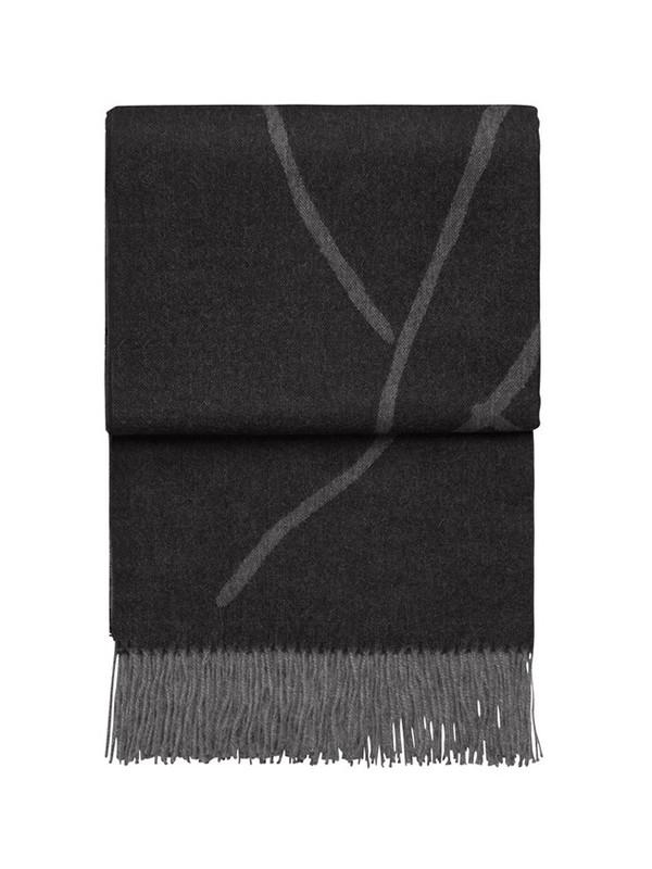 Wildflower plaid, light grey/dark grey fra Elvang