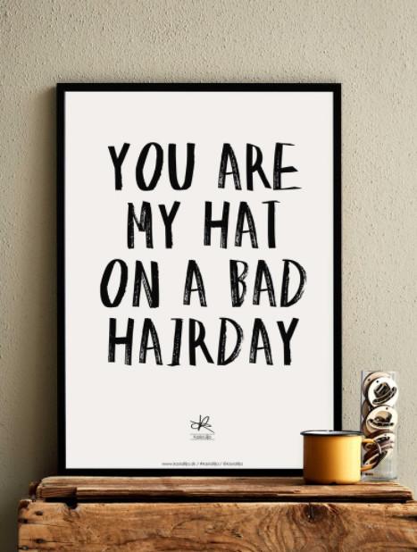 Bad Hairday plakat af Kasia Lilja