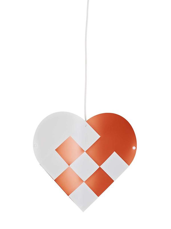 Julelampe, hjerte i kobber fra Le Klint