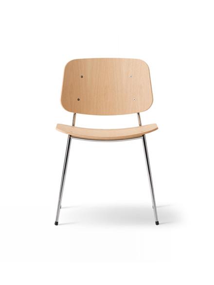 Søborg stol med stålstel af Børge Mogensen