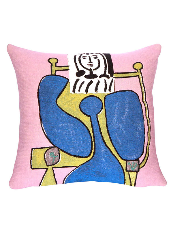 Picasso Femme Assise a la Robe Bleue II pude fra Poulin Design
