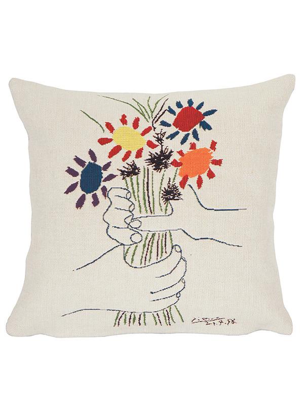 Picasso Fleurs Et Mains pude fra Poulin Design