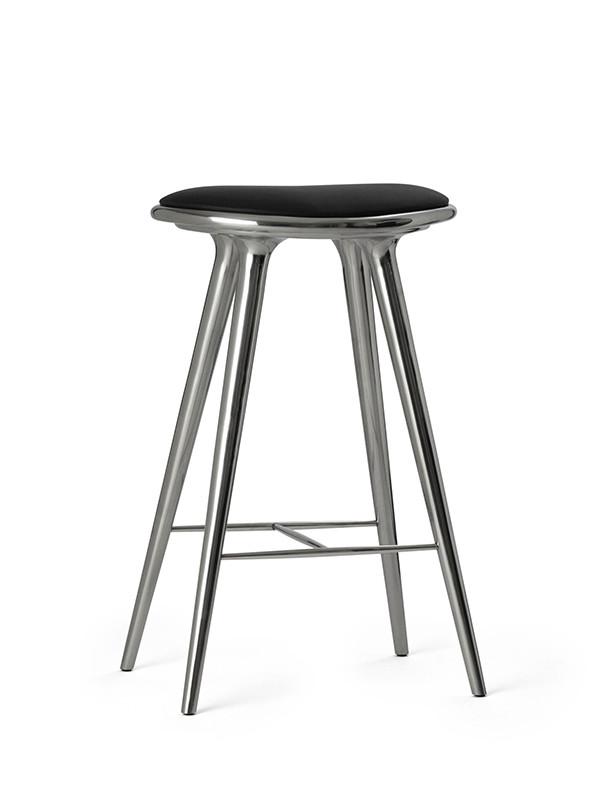 Høj barstol i aluminium fra Mater