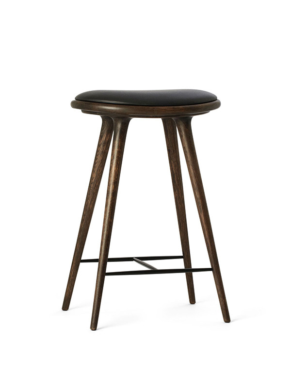 Lav barstol i Sirka grå egetræ fra Mater