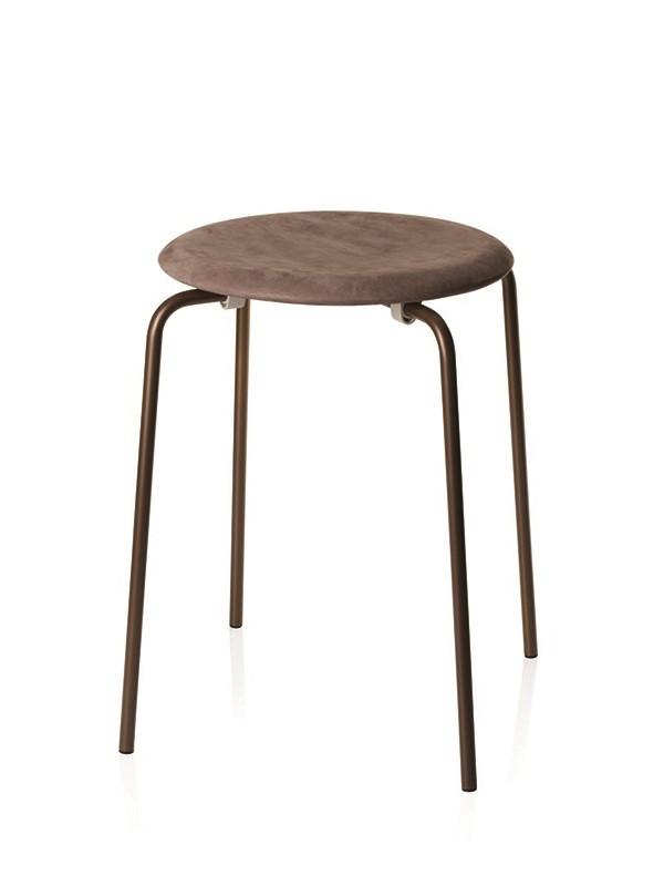 Dot skammel i nubuck læder af Arne Jacobsen