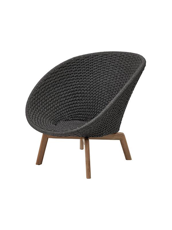 Peacock lounge stol, Soft Rope fra Cane-line