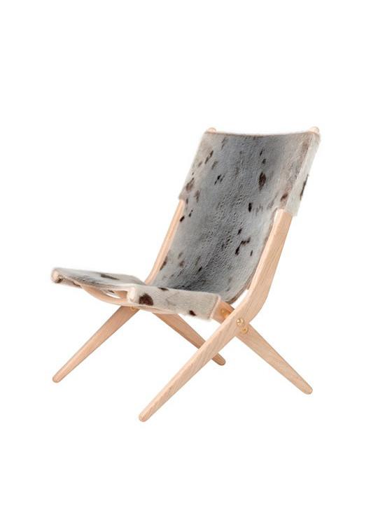 Saxe stol med sælskind fra By Lassen