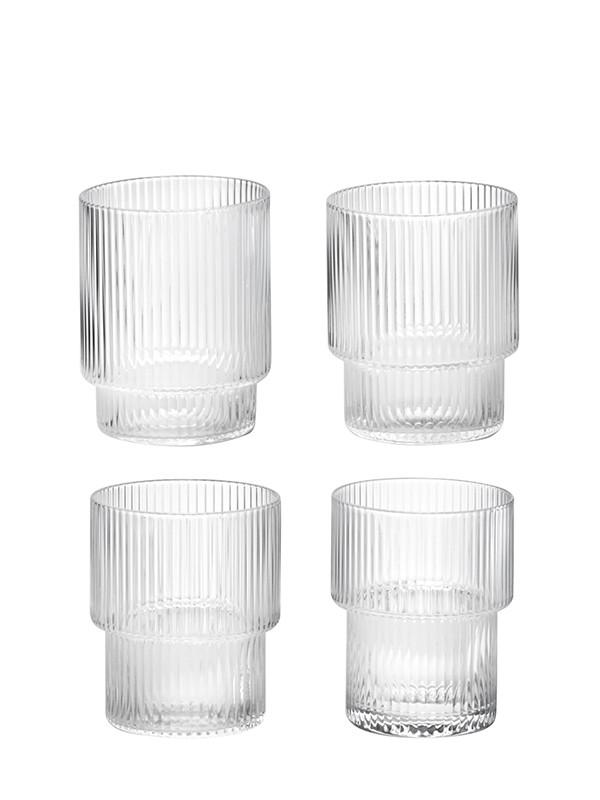 Ripple glas (sæt med 4 stk) fra Ferm Living