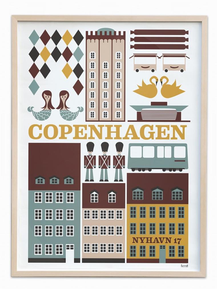 København plakat fra Ferm Living