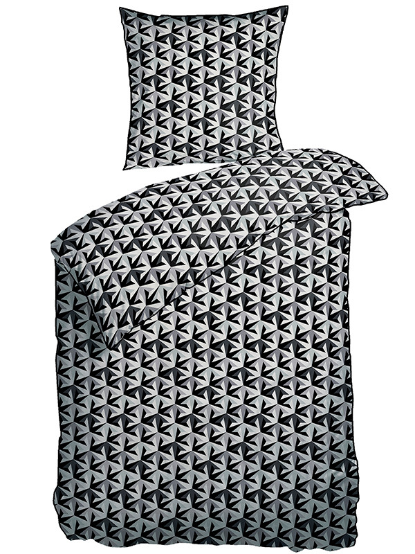 Sengesæt- Pile mønster- grå fra Piet Hein