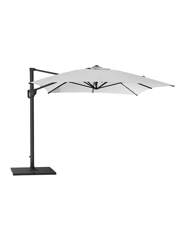 Hyde Luxe parasol 3x4 m. inkl. fod fra Cane-line