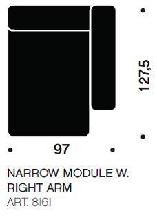 MAGS chaiselong modul smal art. 8161 fra Hay