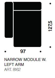 MAGS chaiselong modul smal art. 8162 fra Hay