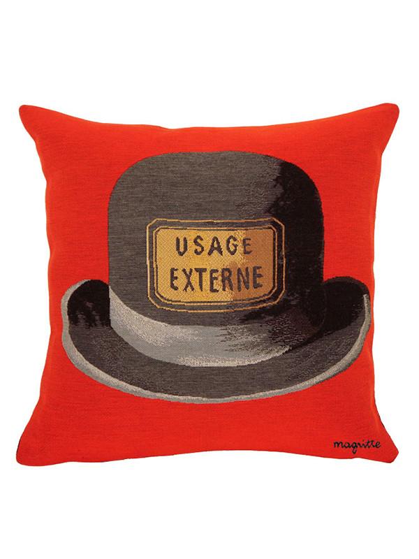 Magritte Le Bouchond d´épouvante rød pude fra Poulin Design