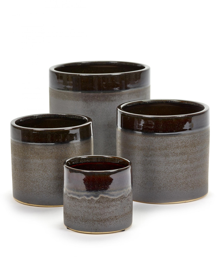 Brown Glaze pot fra Serax
